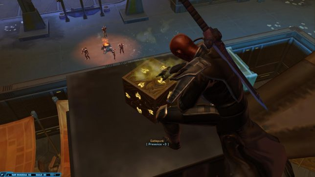 Unlocking Nar Shaddaa's yellow datacron.
